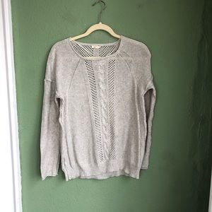 Mystree Cashmere Blend Gray Sweater Small